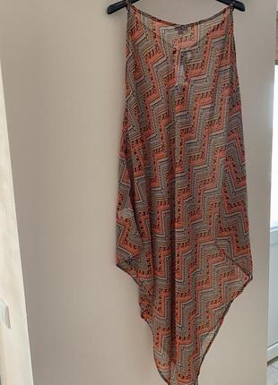 Стильное платье туника накидка пляжная скидки недорого модная