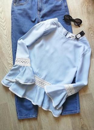 Шикарнейшая натуральная блуза с кружевом, блузка с кружевом, рубашка, сорочка, кофта