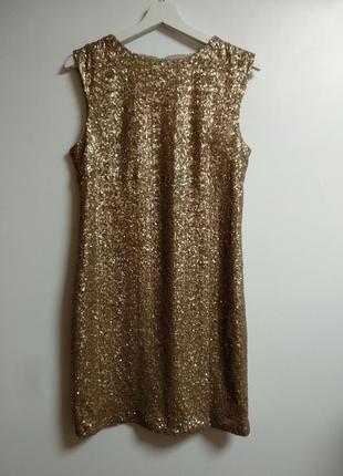 Стрейч платье в мелкую пайетку дорогого бренда 14/48-50 размера