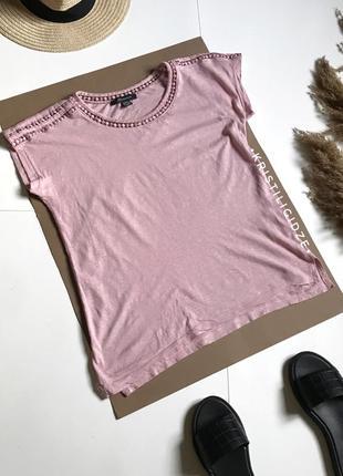 Розовая свободная футболка primark xs-s