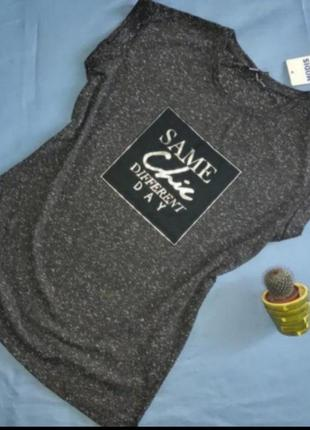 Темно серая футболка
