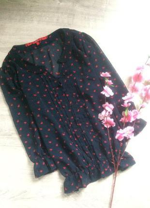 Шифоновая блуза с сердечками next