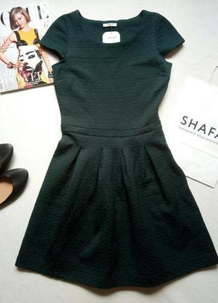 Новое темно-зеленое изумрудное платье promod размер с
