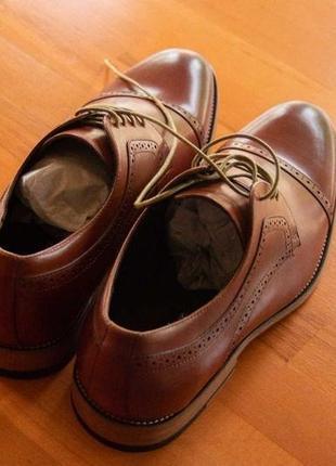 Мужские стильные новые туфли-оксфорды, кожа