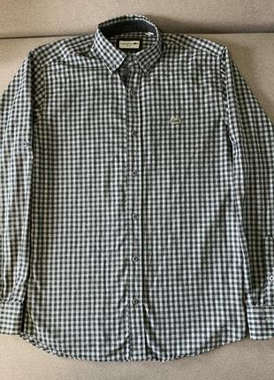Рубашка в клетку lacoste