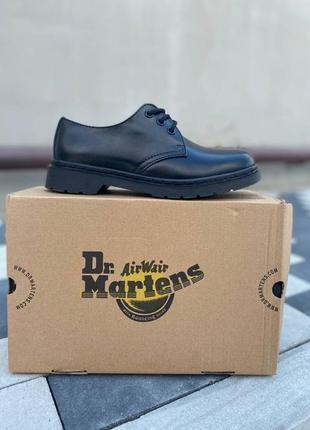 Женские кожаные туфли dr.martens 1461 mono black