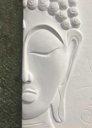 """Картина-барельеф/лепнина/объёмная картина """"будда и лотос"""""""