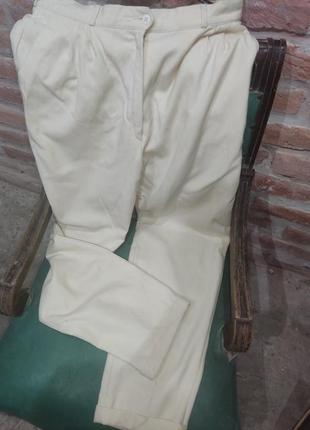 Винтажные шерстяные брюки на высокой посадке