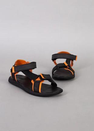 Cандалии мужские черные спортвные кожаные (натуральная кожа) летние новые - мужская летняя обувь 202