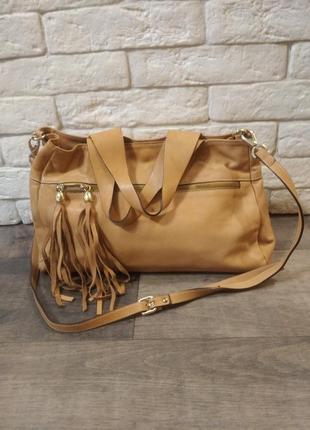 Кожаная сумка ab asia bellucci