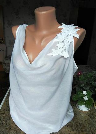 Тонкая шелковая блуза с вышивкой