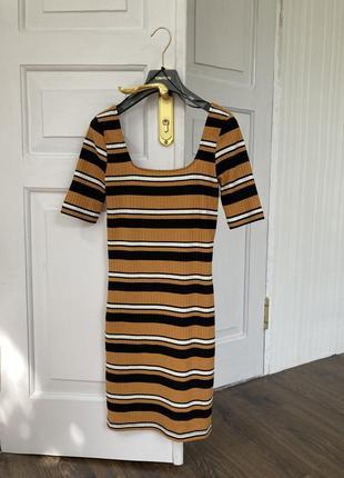 Тренд платье кроп  полоска