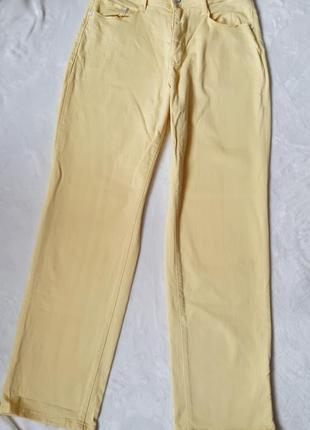 Летние яркие желтые джинсы 48-50 рр