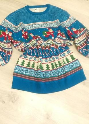 Новогодний свитер. свитер с новогодним принтом. свитер с рождественским принтом.