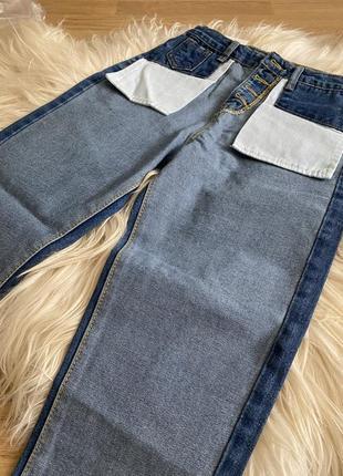 Супер цена!!! тренд!!! джинсы двухцветные