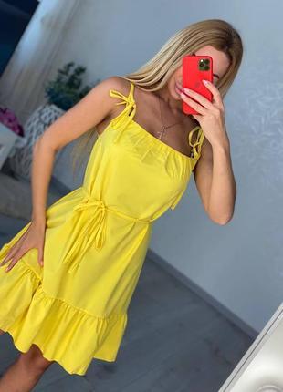 Женский желтый летний сарафан5 фото