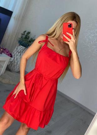 Женский летний красный сарафан