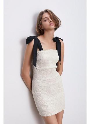 Платье с лентами zara s-m