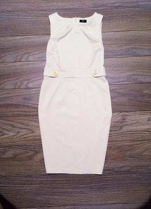 Лимонное пастельное фактурное  платье-футляр