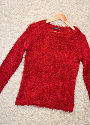 Алый свитер травка, 2xl- 3xl.