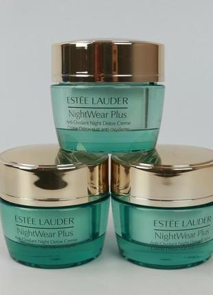 Ночной крем для лица estee lauder nightwear plus anti-oxidant night detox creme 15 мл