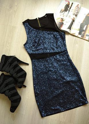Платье мини в пайетках
