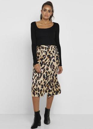 Новая леопардовая юбка на запах missguided