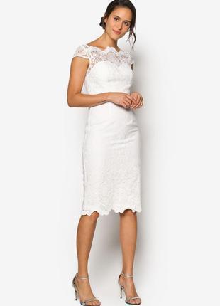 Класичне вишите матове кружево плаття chi chi london