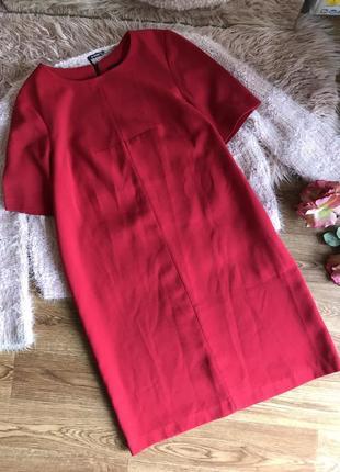 Плотное свободное платье (12р)l