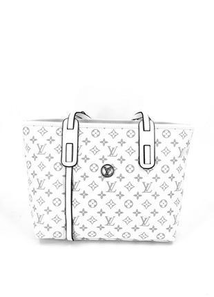Жіноча бредова сумка лв шопер тоут в кольорах білий
