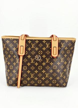 Жіноча бредова сумка лв шопер тоут в кольорах коричневий