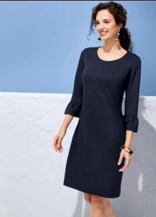 Стильное платье,платье синее, повседневное элегантное платье, esmara, германия