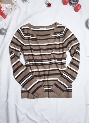 Саитер джемпер пуловер полосатый в полоску