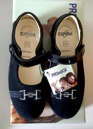 Итальянские кожаные туфли для девочек с пяточным амортизатором, готовимся к школе