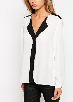 Asos блуза с контрастными деталями