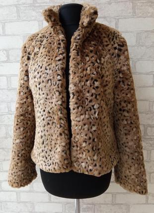 Актуальная леопардовая эко-шубка