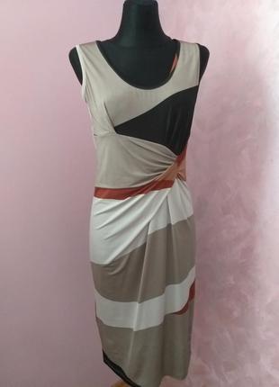 Елегантна сукня,гра кольорів/италия/s,m