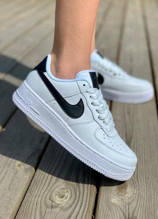 Кросівки nike air force 1 white 'black logo' кроссовки