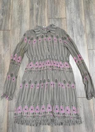 Женское шёлковое платье от  miu miu vintage размер 44