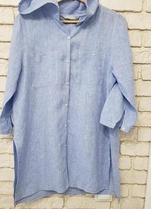 Льняна вітрівка-рубашка