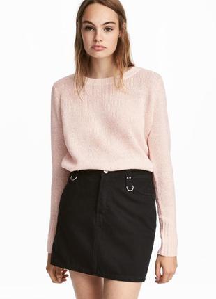 Розово-белый укороченный свитер h&m / большая распродажа!