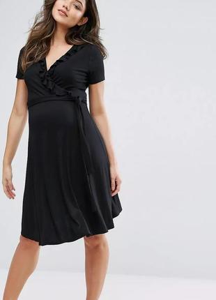 Платье с запахом и оборкой new look maternity