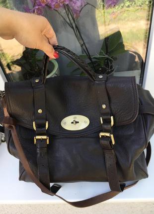 Большая кожаная сумка mulberry alexa оригинал