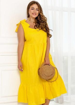 Лёгкое, красивое платье-сарафан с кокетливыми бретелями + бесплатная доставка нп 💛