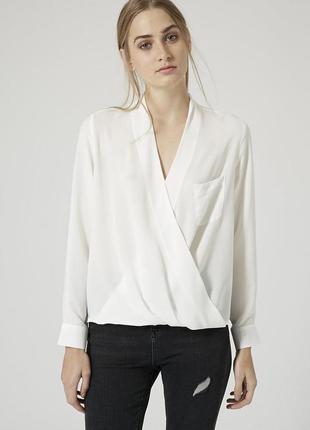 Topshop драпированная блуза