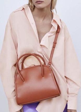 Новая рыжая сумка zara с биркой