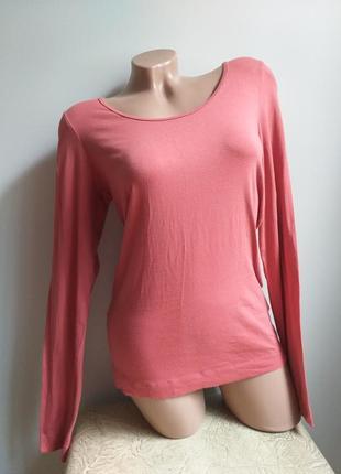 Лонгслив. футболка с длинным рукавом. коралловый, терракотовый, пудровый.