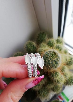 Нежное кольцо флоранж florange бижутерия