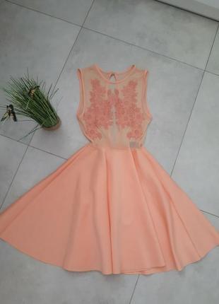 Шикарне плаття персикове
