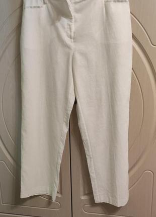Новые льняные женские брюки штаны р.54